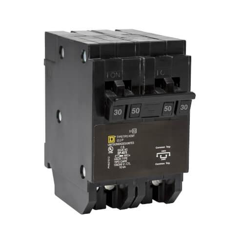 Homeline 2 Pole Miniature Tandem Circuit Breaker (120/240V, 30/50A) Product Image