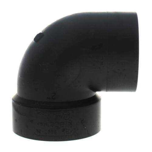 "2"" Spigot x Hub ABS DWV 90° Street Vent Elbow (58072V) Product Image"