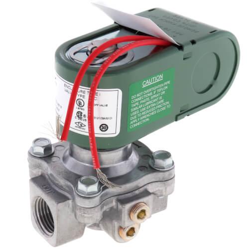 "1/2"" 2 Way Normally Closed Low Pressure Gas Shutoff Valve, 120V (350,000 BTU) Product Image"