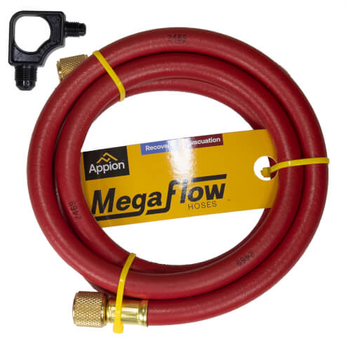 """3/8"""" MegaFlow High-Speed Dual-Purpose Hose, 6', 3/8"""" x 1/4"""" Flare (Red) Product Image"""