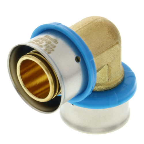 """3/4"""" PEX Press 90° Elbow w/ Attached Sleeve (Lead Free) Product Image"""