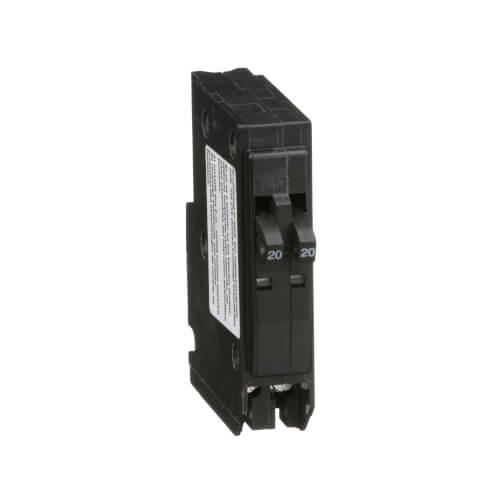QO Single Pole Miniature Tandem Circuit Breaker (120/240V, 20A) Product Image