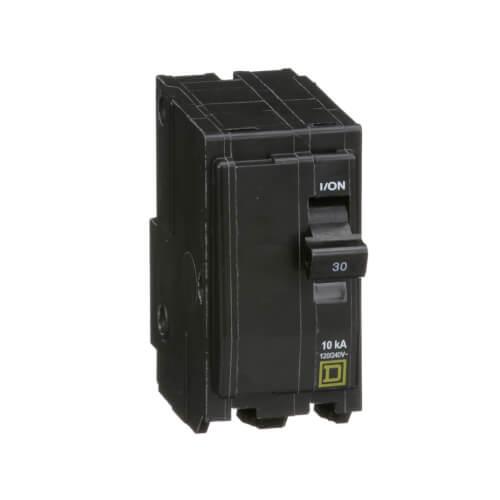 QO 2 Pole Standard Miniature Circuit Breaker (120/240V AC, 30A, 10 kA) Product Image