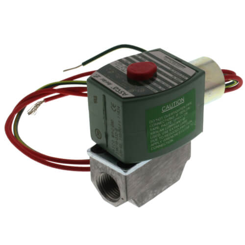 """3/8"""" NPT 2 Way Normally Closed Direct Acting Gas Shutoff Valve (120V) Product Image"""