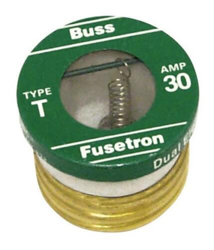30 Amp Dual-Element -Time Delay Edison Style Plug Fuse (125V) Product Image