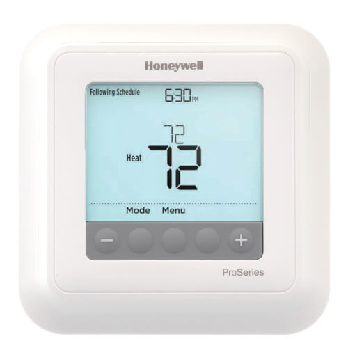 T6 Pro Hydronic Programmable Thermostat w/ Slab/Floor Sensor, 1 Heat Only Product Image