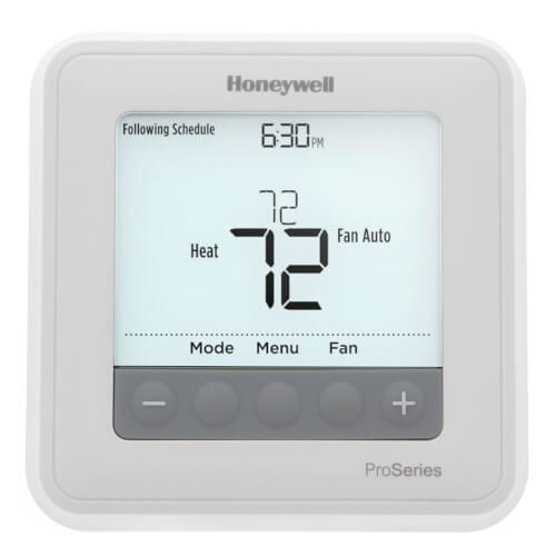 T6 Pro Programmable Thermostat, 2H/1C Heat Pump, 2H/2C Conventional Product Image