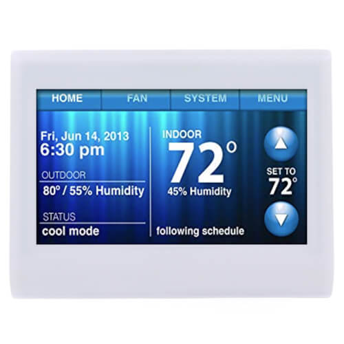Wi-Fi 9000 7-Day Programmable 3H/2C Color Touchscreen Thermostat Product Image