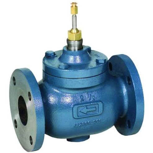 """6"""" Two-way Flanged Globe Valve, Water or Glycol (360 Cv) Product Image"""