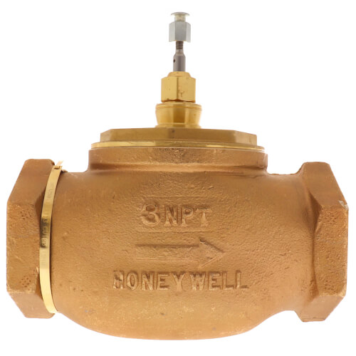 """3"""" Two-way Female NPT Globe Valve, Water, Steam or Glycol (100 Cv) Product Image"""