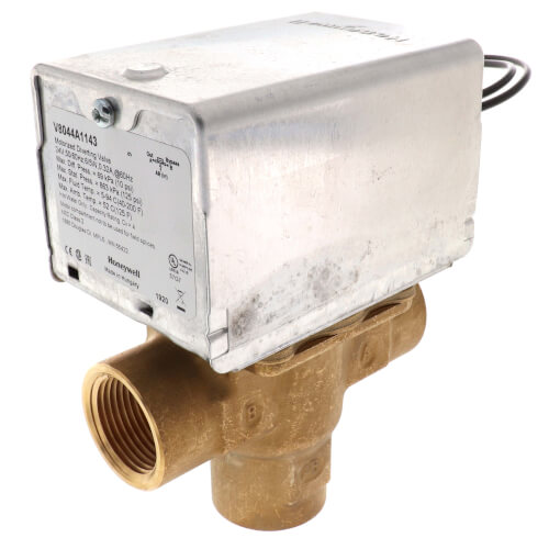 """3/4"""" NPT Connection 3 Way Zone Valve, port A normally closed (24v) Product Image"""