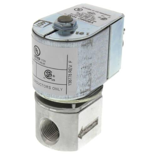"3/8"" NPT Solenoid Pilot Gas Valve (24V) Product Image"