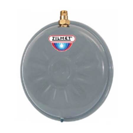 Flat Round Hydronic Wall Hung Expansion Tank w/ Union Check (4.8 Gallon) Product Image